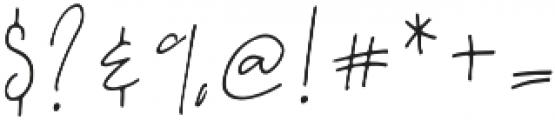 A Bientot Regular otf (400) Font OTHER CHARS
