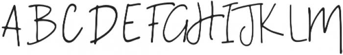 A Bientot Regular otf (400) Font UPPERCASE