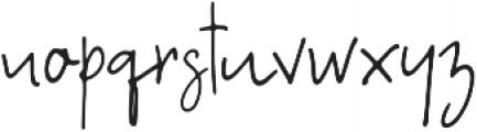 A Bientot Regular otf (400) Font LOWERCASE