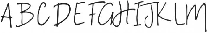 A Bientot Regular ttf (400) Font UPPERCASE