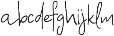 A Bientot Regular ttf (400) Font LOWERCASE