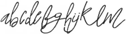 A Paris otf (400) Font LOWERCASE