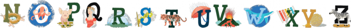 A To Zebra Color otf (400) Font UPPERCASE