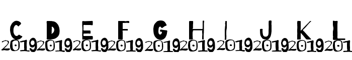 A 2019 Wish Font UPPERCASE