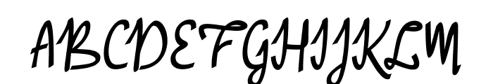 A Baster Rules Font UPPERCASE