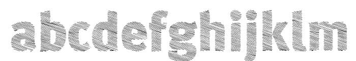 A Bebedera Heavy Font LOWERCASE