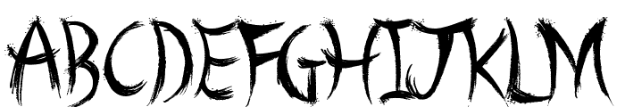 A Brush No Font UPPERCASE