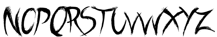 A Brush No Font LOWERCASE