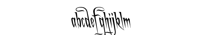 A Charming Font Leftleaning Font LOWERCASE