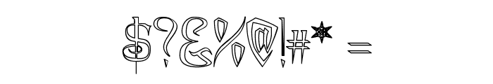 A Charming Font Outline Font OTHER CHARS