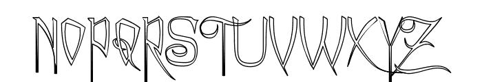A Charming Font Outline Font UPPERCASE