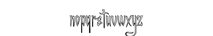 A Charming Font Outline Font LOWERCASE