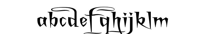 A Charming Font Superexpanded Font LOWERCASE