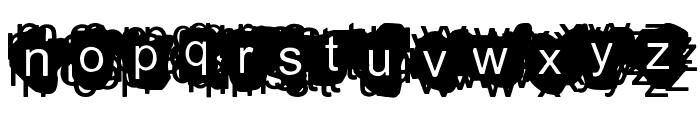 A Damn Mess Font UPPERCASE