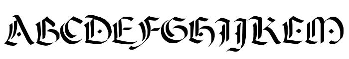 A Dark Wedding Font UPPERCASE