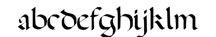 A Dark Wedding Font LOWERCASE
