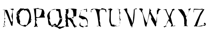 A Font with Serifs. Disordered Font UPPERCASE