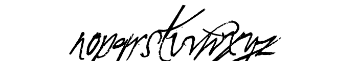 A Glitch In Time Font LOWERCASE