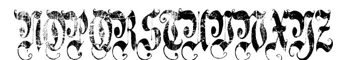 A Gothique Time  Font UPPERCASE