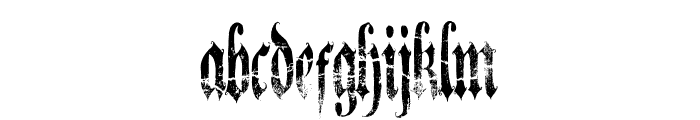 A Gothique Time  Font LOWERCASE