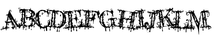 A Lolita Scorned Font UPPERCASE