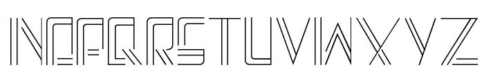 A-Maze Font UPPERCASE
