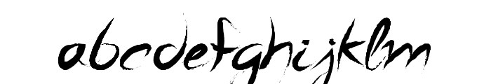 A Quiet Sleep Font LOWERCASE