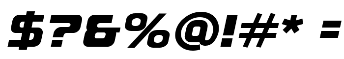 A-Space Black Demo Italic Font OTHER CHARS
