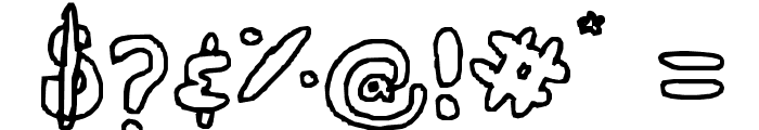 A fat child Font OTHER CHARS