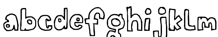 A fat child Font LOWERCASE