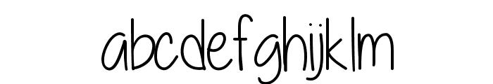 A little sunshine Font LOWERCASE