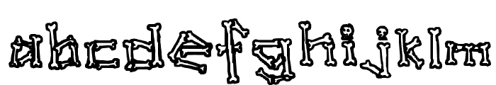 A skeleton in your closet Font LOWERCASE