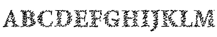 a Morris line Font UPPERCASE