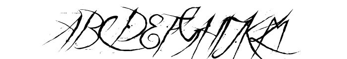 a Theme for murder Font UPPERCASE