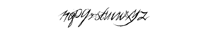 a Theme for murder Font LOWERCASE