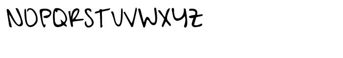 A Hundred Miles Regular Font UPPERCASE