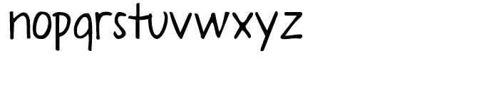 A Year Without Rain Regular Font LOWERCASE