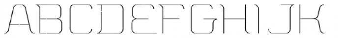 A10 STAR Black Hairline Font UPPERCASE