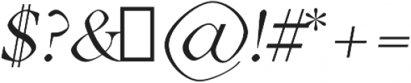 Aara Book Italic otf (400) Font OTHER CHARS