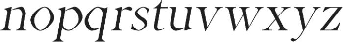 Aara Book Italic otf (400) Font LOWERCASE