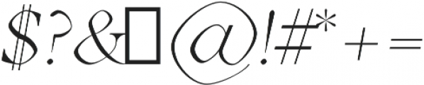 Aara Light Italic otf (300) Font OTHER CHARS