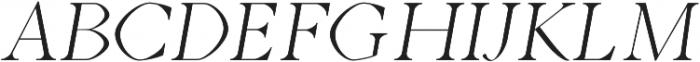 Aara Light Italic otf (300) Font UPPERCASE