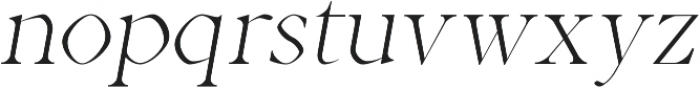 Aara Light Italic otf (300) Font LOWERCASE