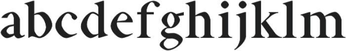 Aara otf (400) Font LOWERCASE
