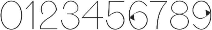 Aariel Thin otf (100) Font OTHER CHARS