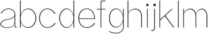 Aariel Thin otf (100) Font LOWERCASE