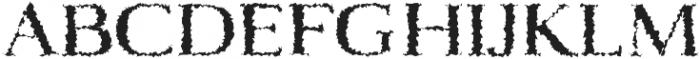 Aaron Distorted otf (400) Font UPPERCASE