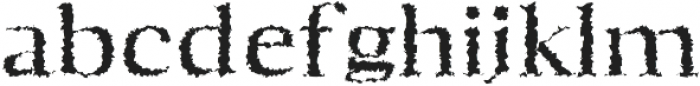 Aaron Distorted otf (400) Font LOWERCASE