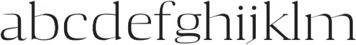 Aaron Light otf (300) Font LOWERCASE