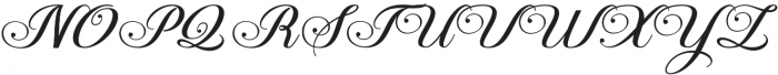 Aaron Script otf (400) Font UPPERCASE